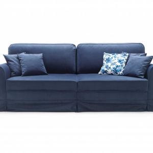 niebieska sofa Royal