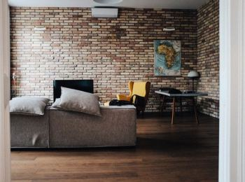 sofa, szare obicie