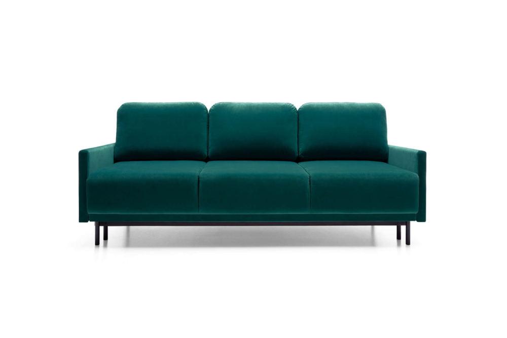 zielona sofa rozkładana z systemem DL