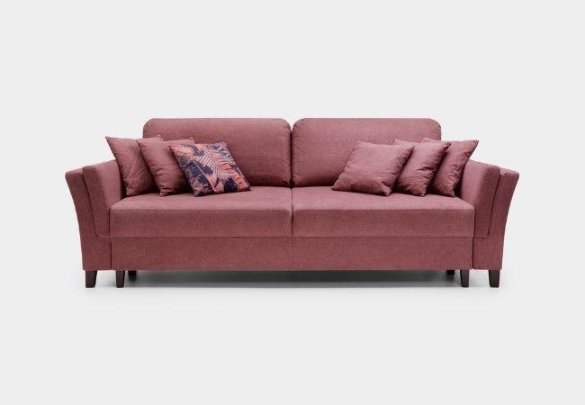różowa sofa rozkładana