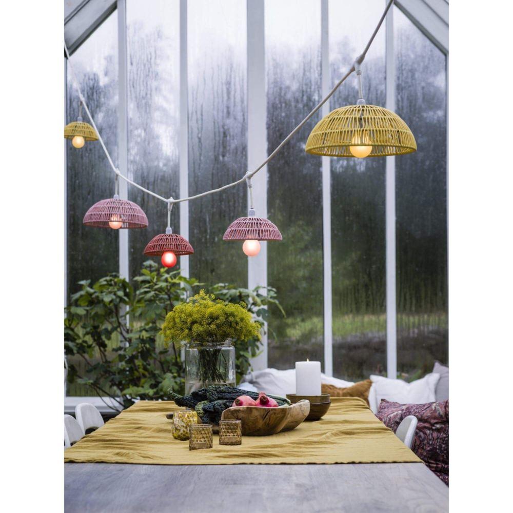 lampa wisząca rattanowa w trzech kolorach