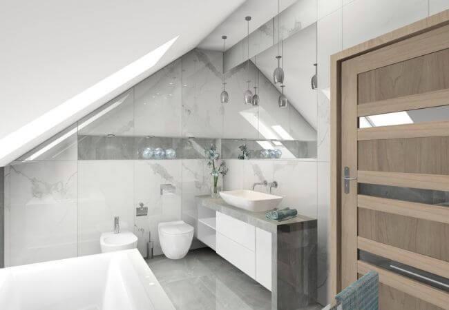 oświetlenie do łazienki na poddaszu